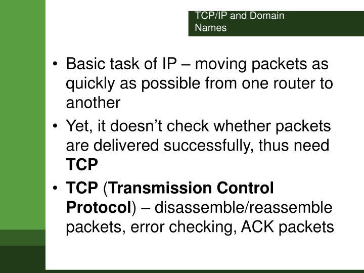 TCP/IP and Domain Names