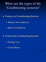 what are the types of air conditioning systems