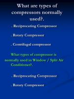 what are types of compressors normally used