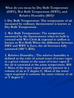 what do you mean by dry bulb temperature dbt wet bulb temperature wbt and relative humidity rh