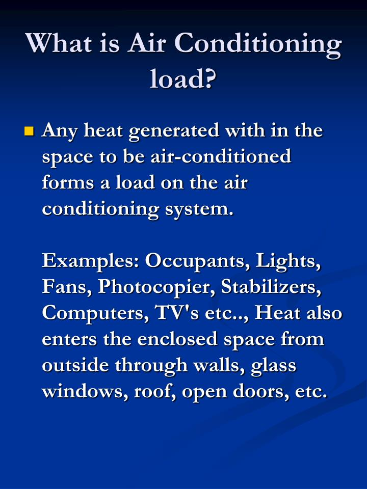 What is air conditioning load