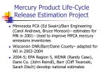 mercury product life cycle release estimation project