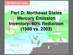 part d northeast states mercury emission inventory 60 reduction 1998 vs 2003