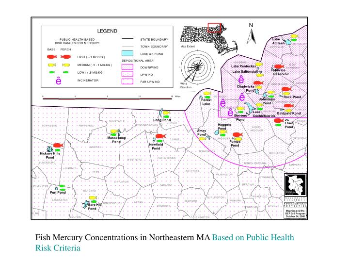 Fish Mercury Concentrations in Northeastern MA