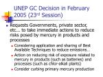 unep gc decision in february 2005 23 rd session