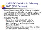 unep gc decision in february 2005 23 rd session1