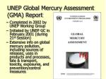 unep global mercury assessment gma report