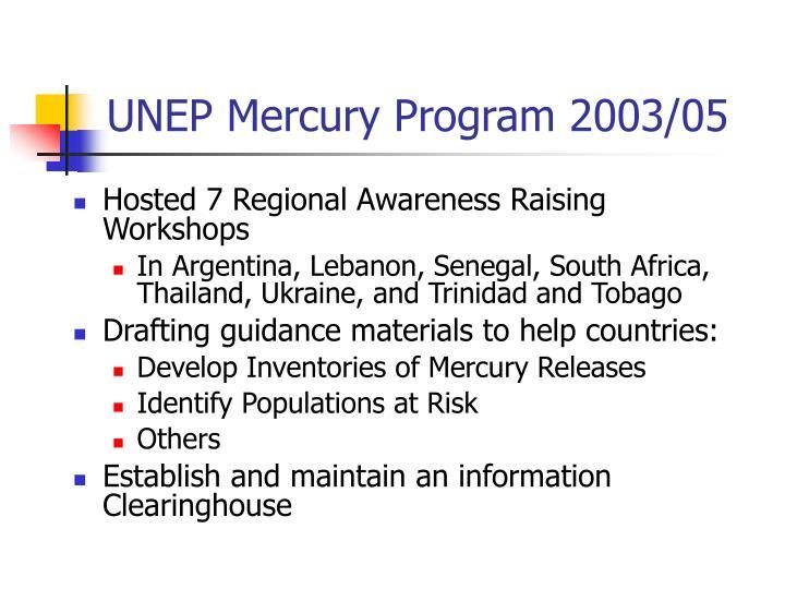 UNEP Mercury Program 2003/05