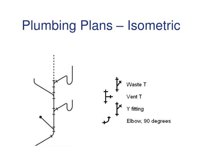 Plumbing Plans – Isometric