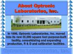 about optronic laboratories inc1