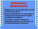 reflectance measurement