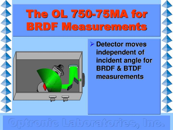 The OL 750-75MA for BRDF Measurements
