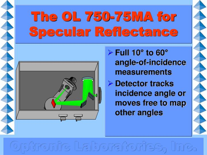 The OL 750-75MA for Specular Reflectance