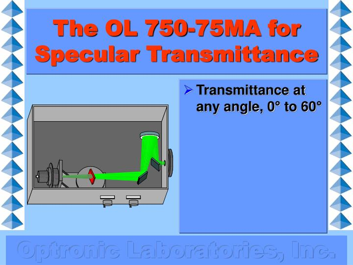 The OL 750-75MA for Specular Transmittance
