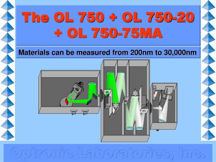 The OL 750 + OL 750-20 + OL 750-75MA