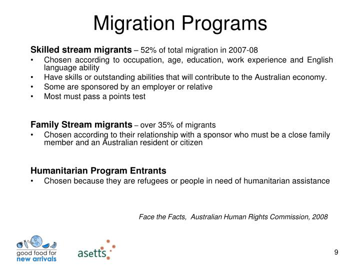 Skilled stream migrants