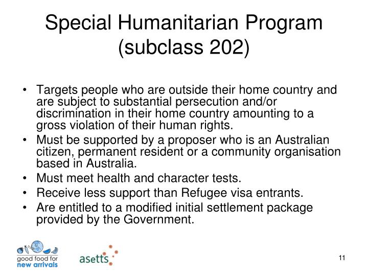 Special Humanitarian Program (subclass 202)