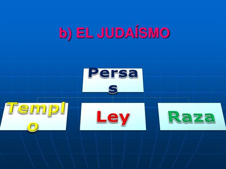 b) EL JUDAÍSMO