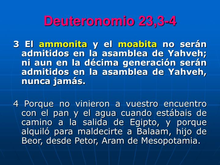Deuteronomio 23,3-4