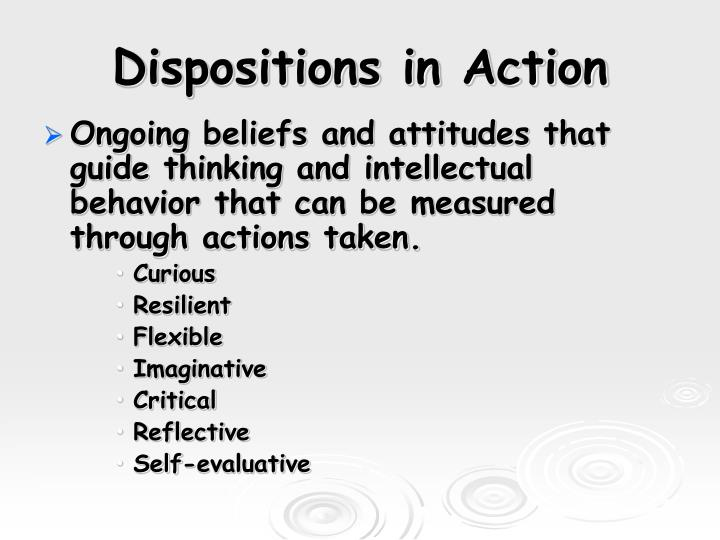 Dispositions in Action