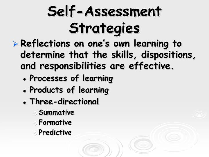 Self-Assessment Strategies