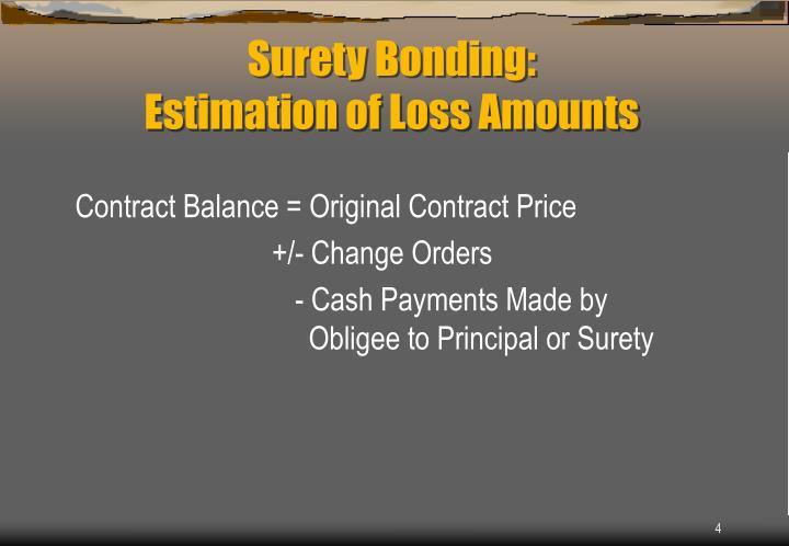 Contract Balance = Original Contract Price