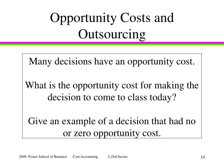 Opportunity Costs and