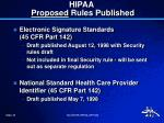 hipaa proposed rules published