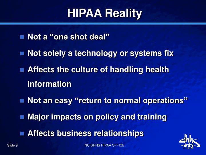 HIPAA Reality