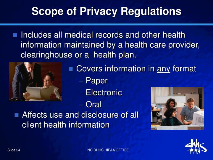 Scope of Privacy Regulations