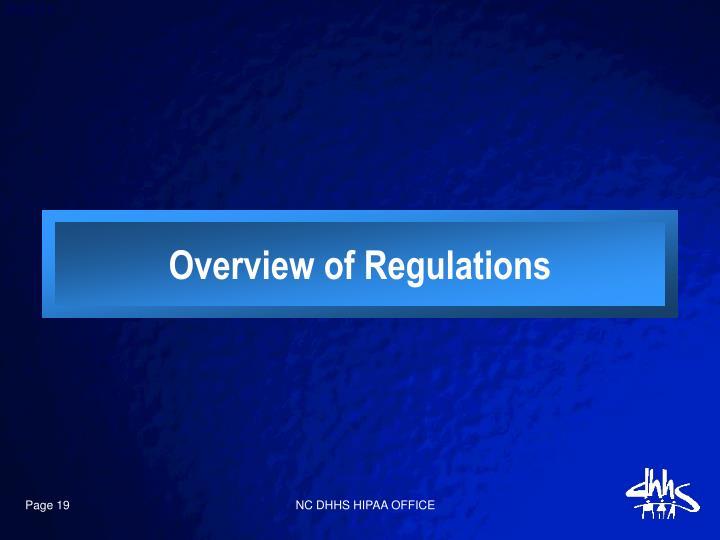 Overview of Regulations