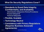 what do security regulations cover