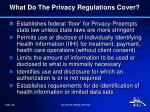 what do the privacy regulations cover