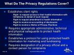 what do the privacy regulations cover1