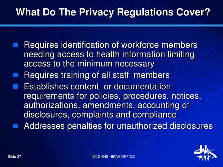 What Do The Privacy Regulations Cover?