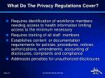 what do the privacy regulations cover2