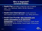 who is impacted covered entities