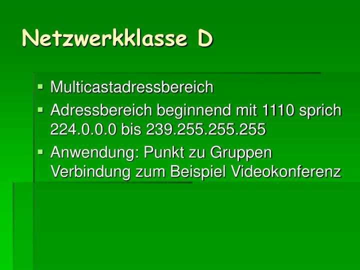Netzwerkklasse D