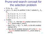 prune and search concept for the selection problem