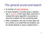 the general prune and search
