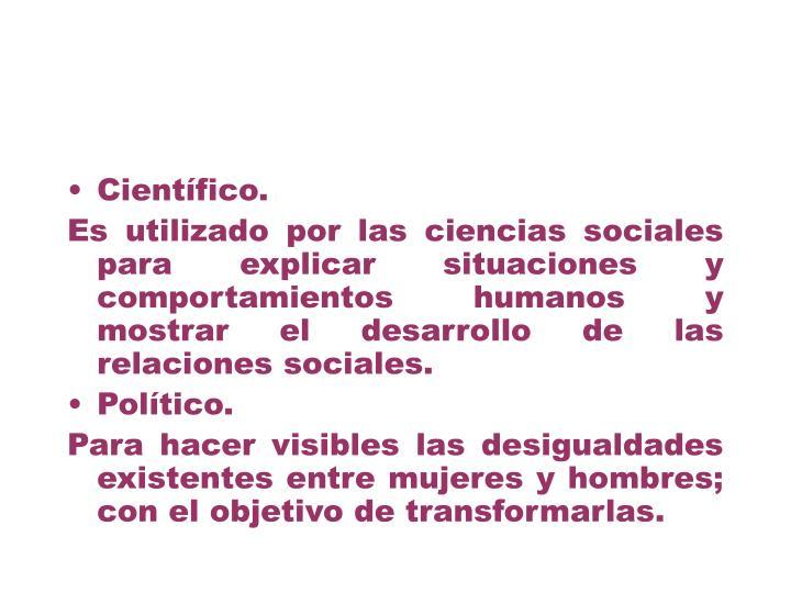 Científico.