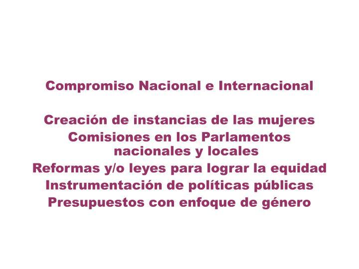 Compromiso Nacional e Internacional