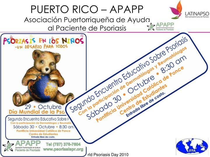 PUERTO RICO – APAPP