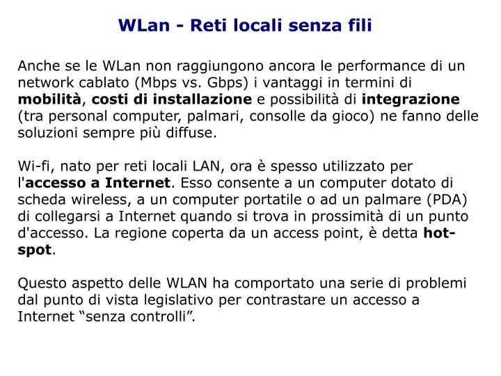 WLan - Reti locali senza fili