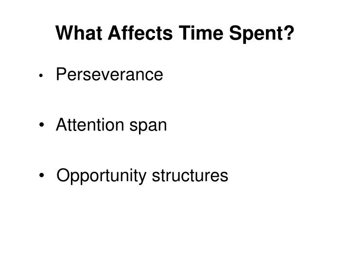 What Affects Time Spent?