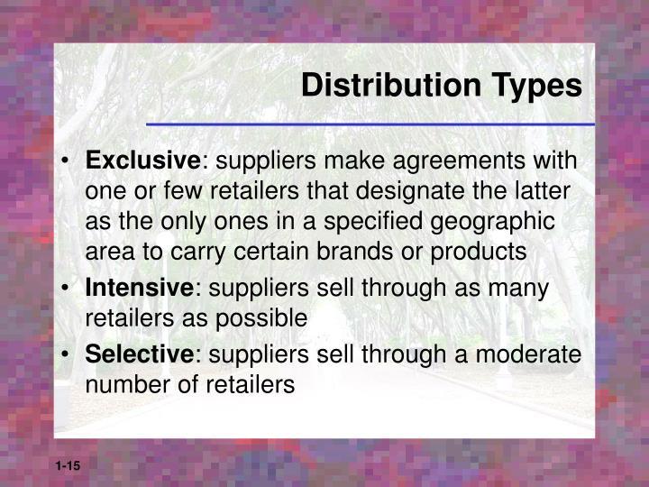 Distribution Types