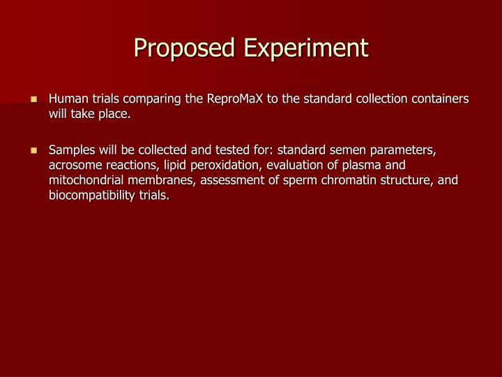 Proposed Experiment