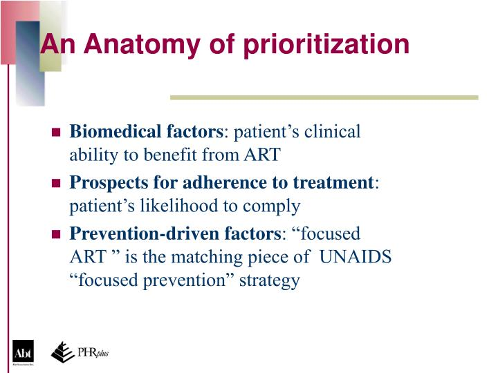 An Anatomy of prioritization
