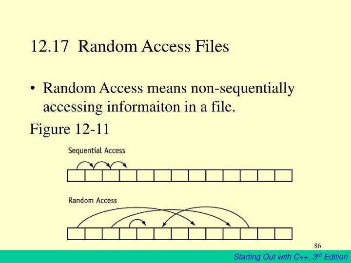 12.17  Random Access Files