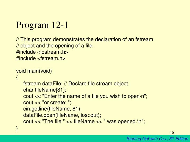 Program 12-1